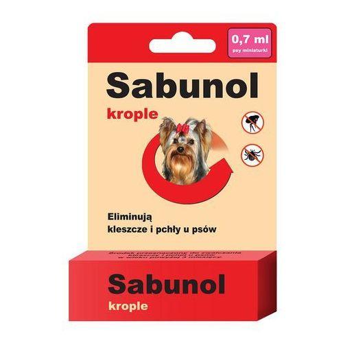 Sabunol Krople na pchły i kleszcze dla średnich psów 2ml (5901742000394)