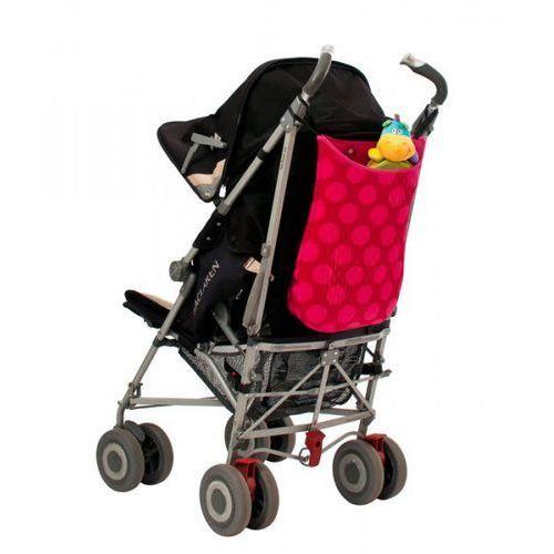 Quaranta settimane - torba do wózka z neoprenu różowa w kropki