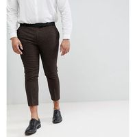 woven in england plus skinny cropped trouser in herringbone - brown marki Heart & dagger