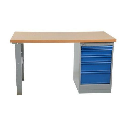 Intra.se swedmach Wytrzymały stół warsztatowy z szafką, blat 1600mm, nośność 500 kg blat hartowany olejowo