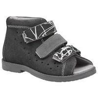 Sandałki profilaktyczne ortopedyczne buty 1041 szary szpzb - szary ||grafitowy marki Dawid