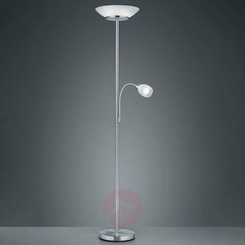 Trio RL Gerry R40063107 lampa podłogowa stojąca 2x18W E27+ 1x10W E14 nikiel mat / biały, kolor Nikiel