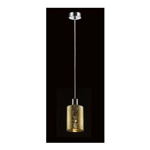 Zuma line Lampa wisząca pioli 1 złoty klosz w kropki, p0369-01a-f4gq