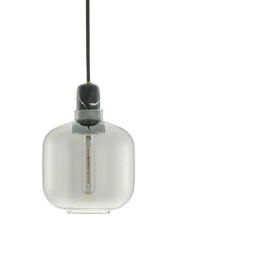AMP - Lampa wisząca Szkło palone/Marmur Śr.14cm