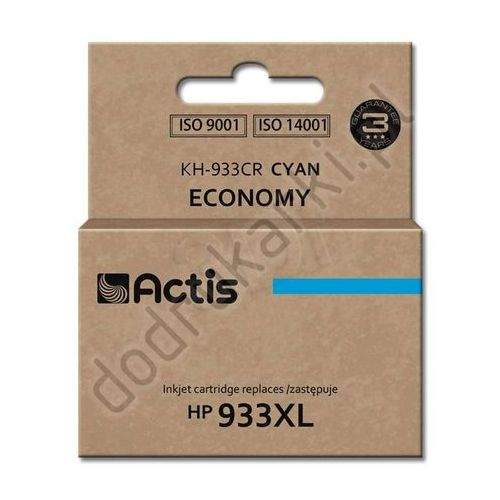 Hp 933xl zamiennik cn054ae tusz cyan do hp officejet 6100 6600 6700 7110 7610 7612 - 13ml od producenta Actis