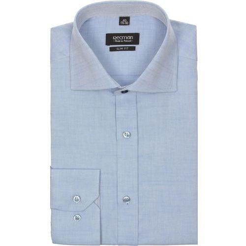 Koszula spello 1989 długi rękaw slim fit niebieski marki Recman