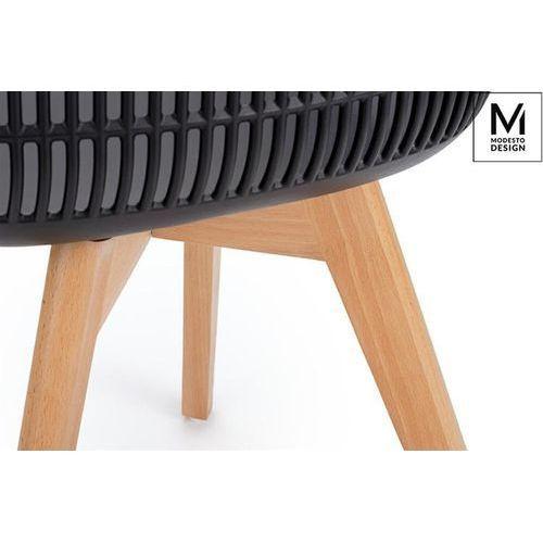 Modesto design Modesto krzesło basket arm wood czarne - polipropylen, nogi jesionowe
