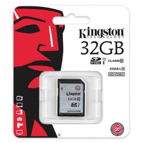 Kingston 32gb sd10vg2/32gb sdhc class10 uhs i 45mb/s