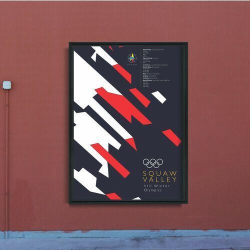 Vintageposteria.pl Plakat na ścianę plakat na ścianę zimowe igrzyska olimpijskie squaw valley