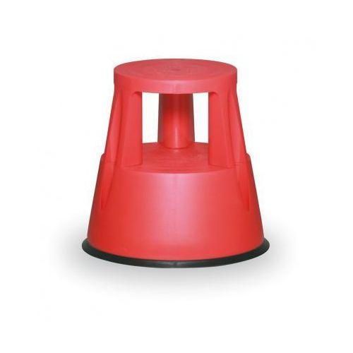 B2b partner Taboret biurowy mobilny plastikowy, czerwony