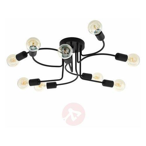 Eglo orazio 97983 plafon lampa sufitowa oprawa 9x40w e27 czarna (9002759979836)