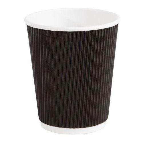 Jednorazowe kubki do kawy karbowane czarne Fiesta 225ml / 8oz