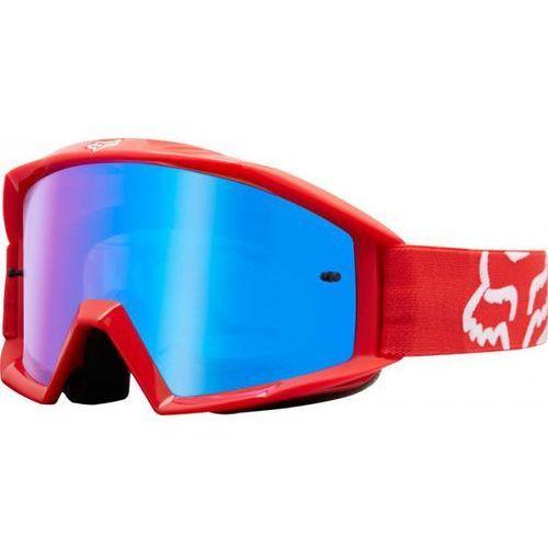 GOGLE FOX MAIN RACE RED - SZYBA BLUE SPARK (1 SZYBA W ZESTAWIE)