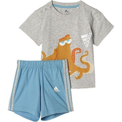 Komplet adidas Disney Hank Summer Set Kids AY6034, kolor niebieski
