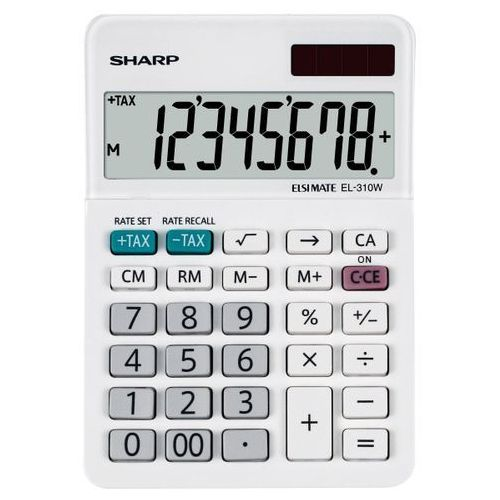Kalkulator desktop box sh-el310w biały marki Sharp