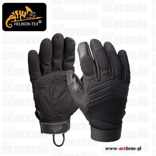 Helikon tex Rękawice helikon us tactical gloves (rk-usm-po-01) - przewiewne, komfortowe, impact gel, spandex, czarne