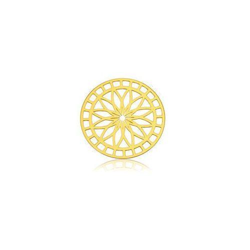 Zawieszka ażurowa Rozeta do łapacza snów, złoto próby 585, BL 280-AU