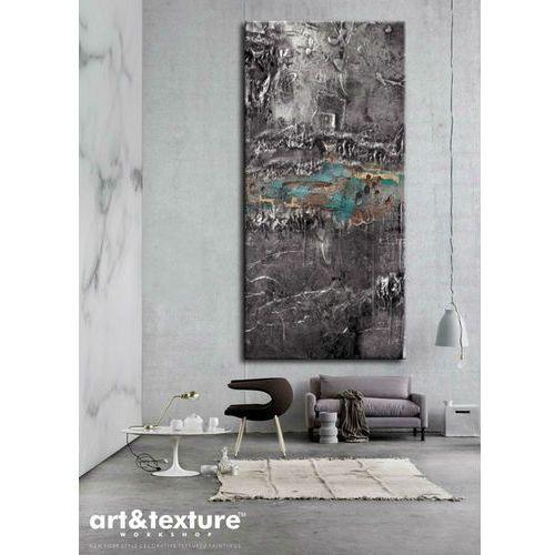 Srebrna fantazja - wielkoformatowa dekoracja ścienna z posrebrzaną płaskorzeźbą, efektowny obraz do salonu