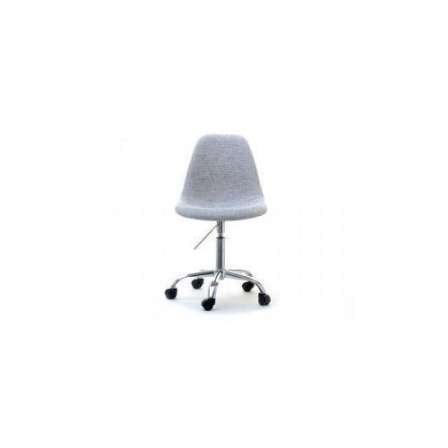 Krzesło kosmetyczne sardynia tapicerowane szare marki Vanity