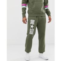 Converse one star joggers in green - green