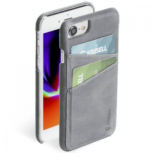 Krusell Etui Apple iPhone 6/7/8 SUNNE 2 Card Cover Szary (7394090611875)
