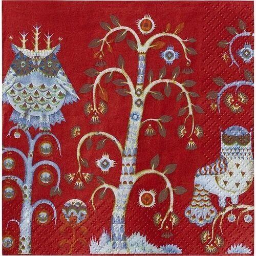 Serwetki Taika 33 x 33 cm czerwone (6411923654999)