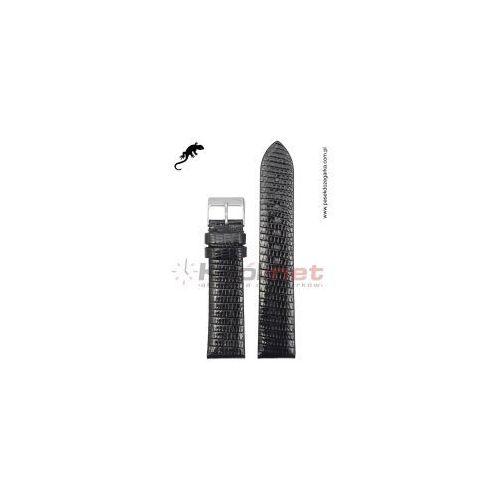 Pasek TK050/18 - czarny, skóra jaszczurki, TK050/18