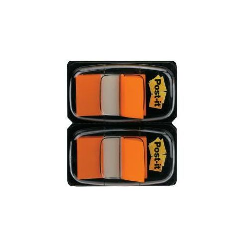 Post-it zakładki indeksujące 680-o2eu standardowe dwupak, pomarańczowy, 2 sztuki marki 3m