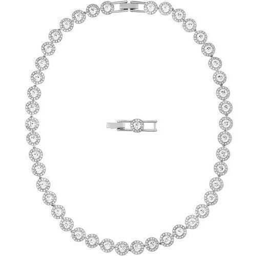 Swarovski angelic 5117703 naszyjnik damski, rodowany, z białego szkła, stop metalowy, srebro (9009651177032)