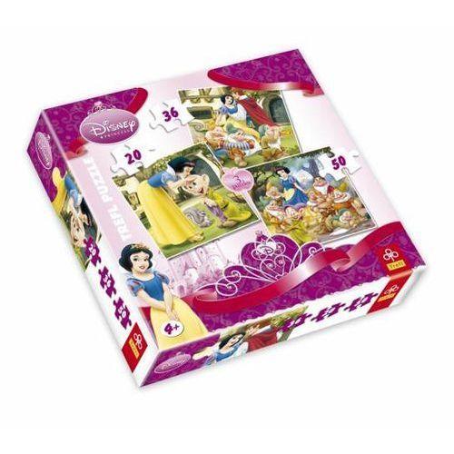 Puzzle mix królewna śnieżka 20, 30, 50 elementów marki Trefl