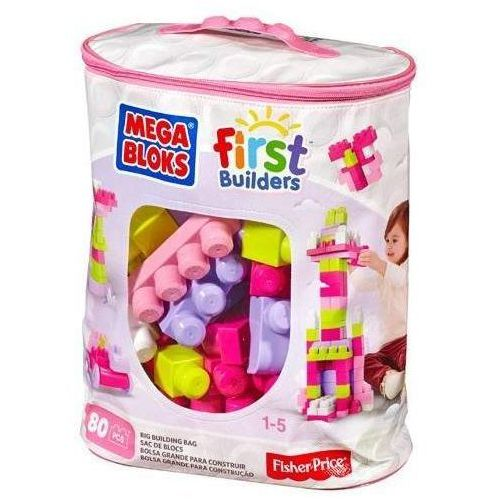 Klocki MEGA BLOKS First Builders DCH62 Różowa torba (80 elementów)