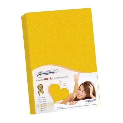 Bellatex Prześcieradło frotte Kamilka żółty, 200 x 220 cm, 203803