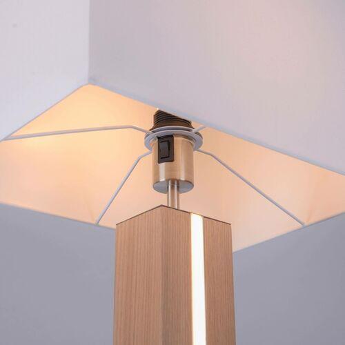 Leuchten direkt Lampa podłogowa amanda drewno dwa źródła światła (4043689971212)