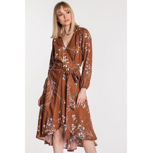 Kopertowa sukienka w kwiaty - Sobora, 1 rozmiar