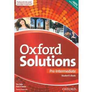 Oxford Solutions Pre-Intermediate. Podręcznik (2015)