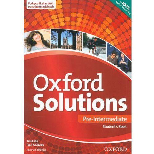 Oxford Solutions Pre-Intermediate. Podręcznik, Oxford University Press