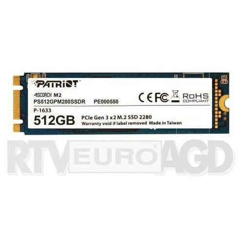 Patriot Scorch 512GB M.2 PCIe - produkt w magazynie - szybka wysyłka!, PS512GPM280SSDR