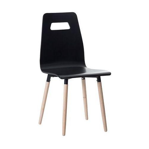Krzesło do jadalni czarne BOVIO, kolor czarny