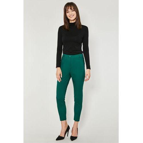 Zielone spodnie w kant leven marki Click fashion