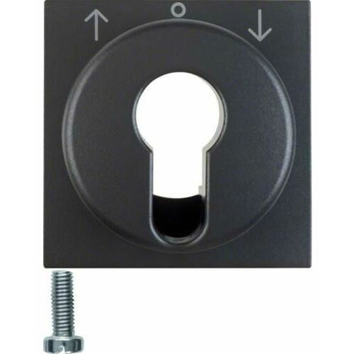 b.kwadrat/b.3/b.7 płytka czołowa do łącznika żaluzjowego na klucz, antracyt mat 15061606 marki Berker