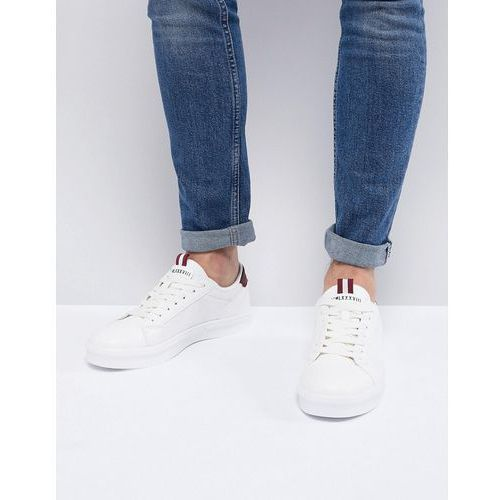 River island trainers with mesh side detail in white - white