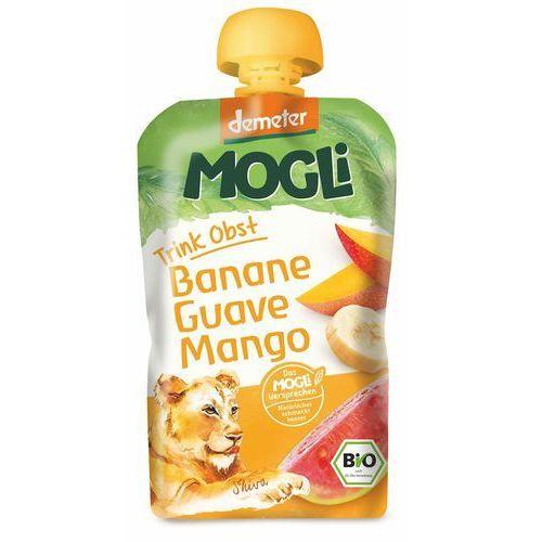 Mogli (moothie owocowe, batony, napoje) Moothie - przecier bananowy z guawą i mango 100% owoców bez dodatku cukrów bio 100 g - mogli
