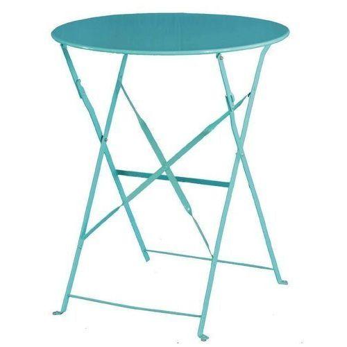 Stolik kawiarniany okrągły niebieski | 59,5(Ø)x(h)71cm marki Bolero