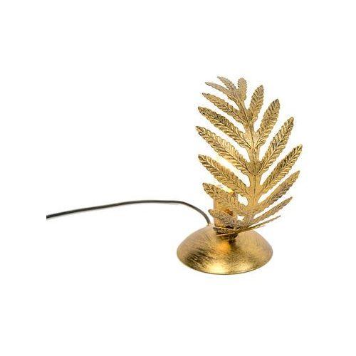 Vintage lampa stołowa mała złota - Botanica