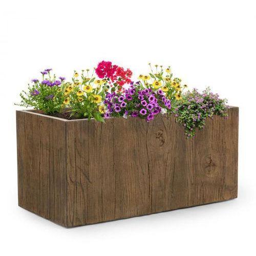 Blumfeldt timberflor doniczka na rośliny 100x45x45cm włókno szklane do wewnątrz/na zewnątrz brązowy