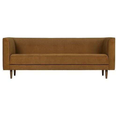 Woood Sofa Studio 3-osobowa velvet cynamonowa 375119-K (8714713096404)