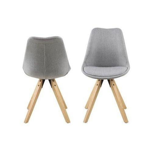 Krzesło Dima light grey, kolor szary