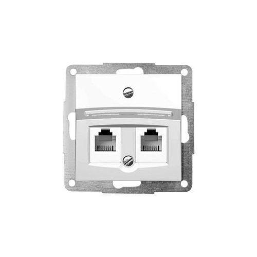 Gniazdo telefoniczno-komputerowe, biały FIORENA, 22004902/HAG