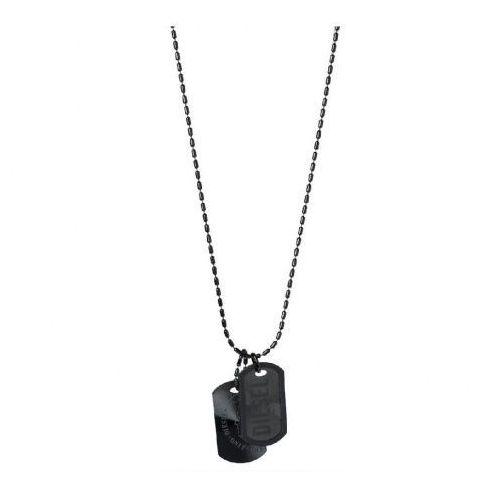 Biżuteria Diesel - Naszyjnik DX0014040, kolor czarny