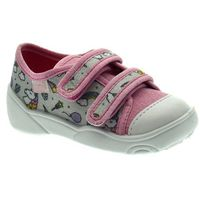 Trampki dziecięce Befado 907P115 Maxi - Różowy ||Szary, kolor różowy